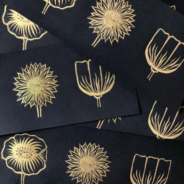 Papillon Press Flower Trio Print