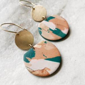 Hazel Earrings 1 Terrazzo