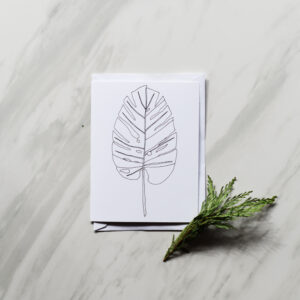 Monstera Leaf Greeting Card